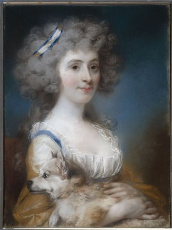 "Portrait de Miss Power, plus tard Madame Shea"" - John Russel"