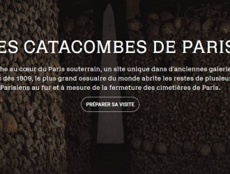 Capture écran site Catacombes